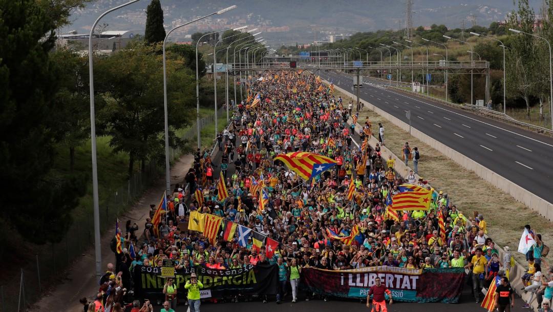 Foto: Cataluña vive jornada de huelga general, con manifestaciones, 18 de octubre de 2019