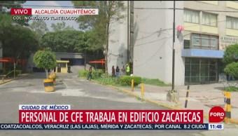 CFE trabaja en edificio afectado por incendio en Tlatelolco