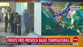 Chihuahua registra temperaturas bajo cero y activan alerta amarilla