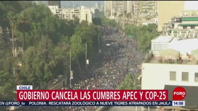 FOTO: Chile renuncia organizar cumbres APEC COP25