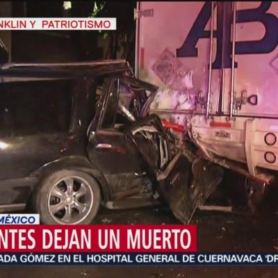Choque automovilístico deja un muerto en la CDMX