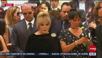 FOTO: Comienza ceremonia sepultura José José Panteón Francés