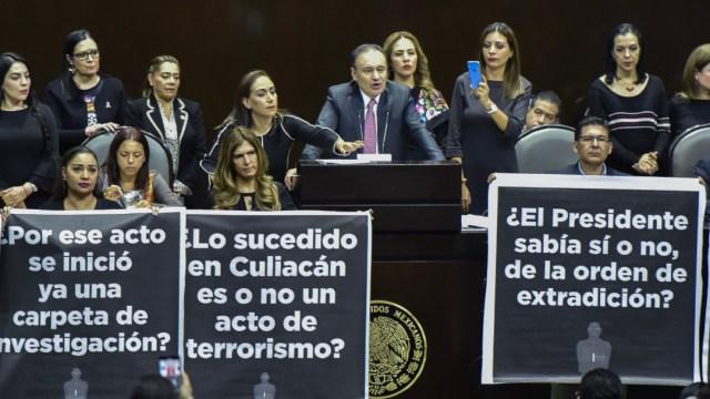 Alfonso Durazo compareció en la Cámara de Diputados por motivo de la glosa del Primer Informe de Gobierno de AMLO. (MARIO JASSO /CUARTOSCURO)