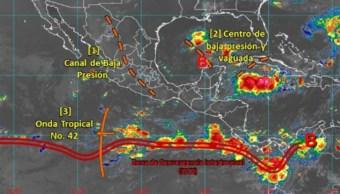 Foto: La temporada de frentes fríos en México inicia en septiembre y aunque en territorio chiapaneco su frecuencia es variable, 5 de octubre de 2019 (Twitter @conagua_clima)
