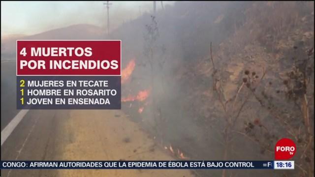 FOTO: Continúa combate tres incendios Baja California