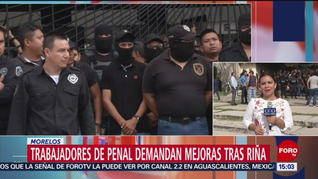 FOTO: Continúa manifestación empleados Cereso Atlacholoaya