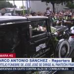 FOTO: Cortejo fúnebre José José llega Panteón Francés