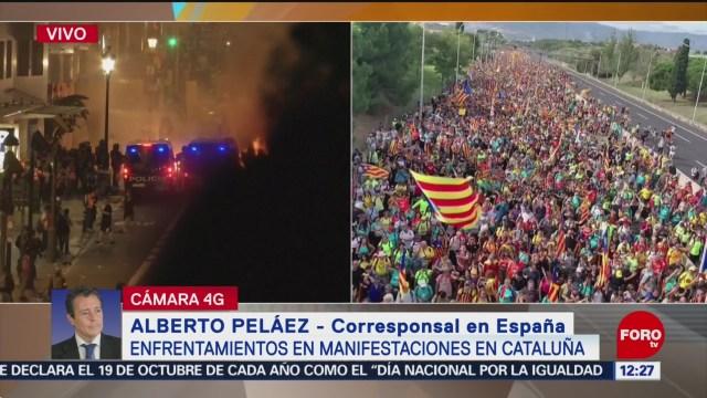 Crece la tensión en Barcelona en medio de jornada de huelga general