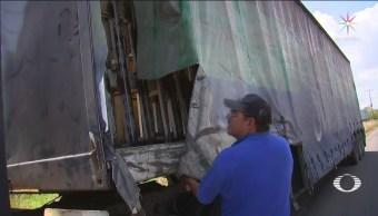 Foto: Normalistas Retienen Autobuses Michoacán 11 Octubre 2019