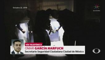 Foto: Denise Maerker entrevista a Omar García Harfuch 24 Octubre 2019