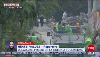 FOTO: Desalojan predio alcaldía Tlalpan CDMX