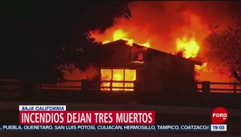 Foto: Baja California Incendios Forestales Desastre Hoy 25 Octubre 2019