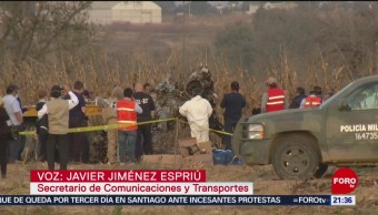 Foto: Atentado Accidente Aéreo Martha Erika Moreno Valle SCT 21 Octubre 2019