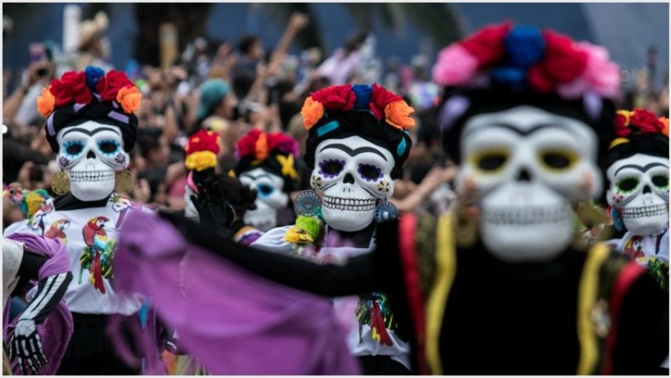 Foto: El colorido y las tradiciones fueron los protagonistas principales del Desfile Internacional del Día de Muertos, 27 de octubre de 2019 (GALO CAÑAS /CUARTOSCURO.COM)