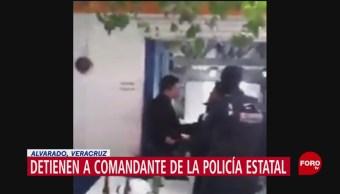 FOTO: Detienen Comandante Policía Estatal Veracruz