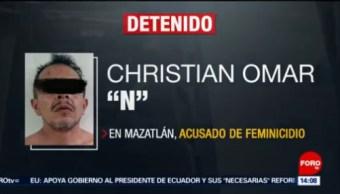 FOTO: Detienen a feminicida en Sinaloa, 13 octubre 2019
