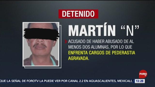 FOTO: Detienen a maestro acusado de abusar de dos menores, 20 octubre 2019