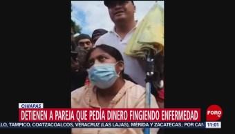 Detienen a mujer centroamericana que pedía dinero fingiendo enfermedad en Chiapas