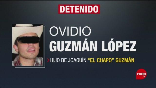 FOTO: Detienen Ovidio Guzmán López hijo El Chapo Guzmán Culiacán