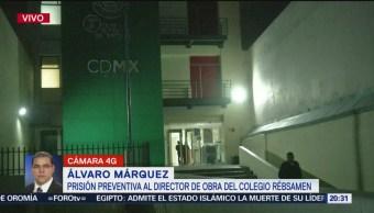 Foto: Director Responsable Obra Colegio Rébsamen Prisión Preventiva 31 Octubre 2019