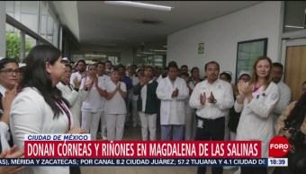 FOTO: Donan Córneas Riñones Beneficio Derechohabientes CDMX