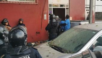 Foto: Enfrentamiento durante desalojo de edificio en Alfonso XIII, 15 de octubre de 2019, Ciudad de México.