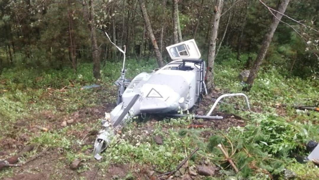 En cuanto tuvieron conocimiento del accidente elementos de rescate de la Fuerza Aérea arribaron al lugar, 03 octubre del 2019 Twitter @NuestroPaisMex)