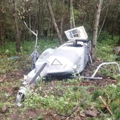 Se desploma helicóptero de la Fuerza Aérea, en Durango; muere el piloto