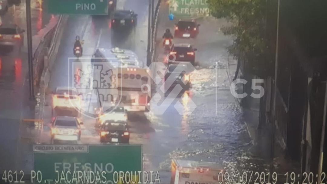 Foto: Encharcamiento en Circuito Interior, 09 de octubre de 2019 (C5)