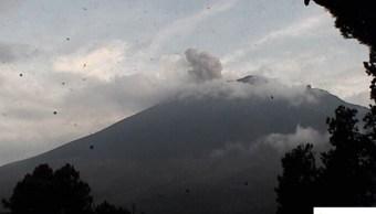 Foto: Se mantiene volcán Popocatépetl en Amarillo Fase 2, 24 de octubre de 2019 (Twitter @Cenapred)