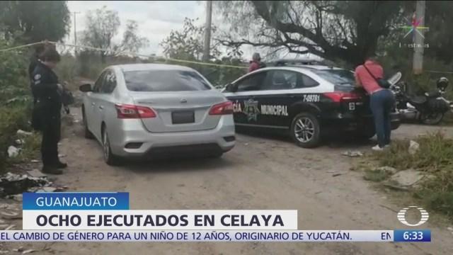 Ejecutan a ocho personas en Celaya, Guanajuato