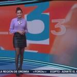 FOTO: clima con Daniela Álvarez 31 octubre 2019