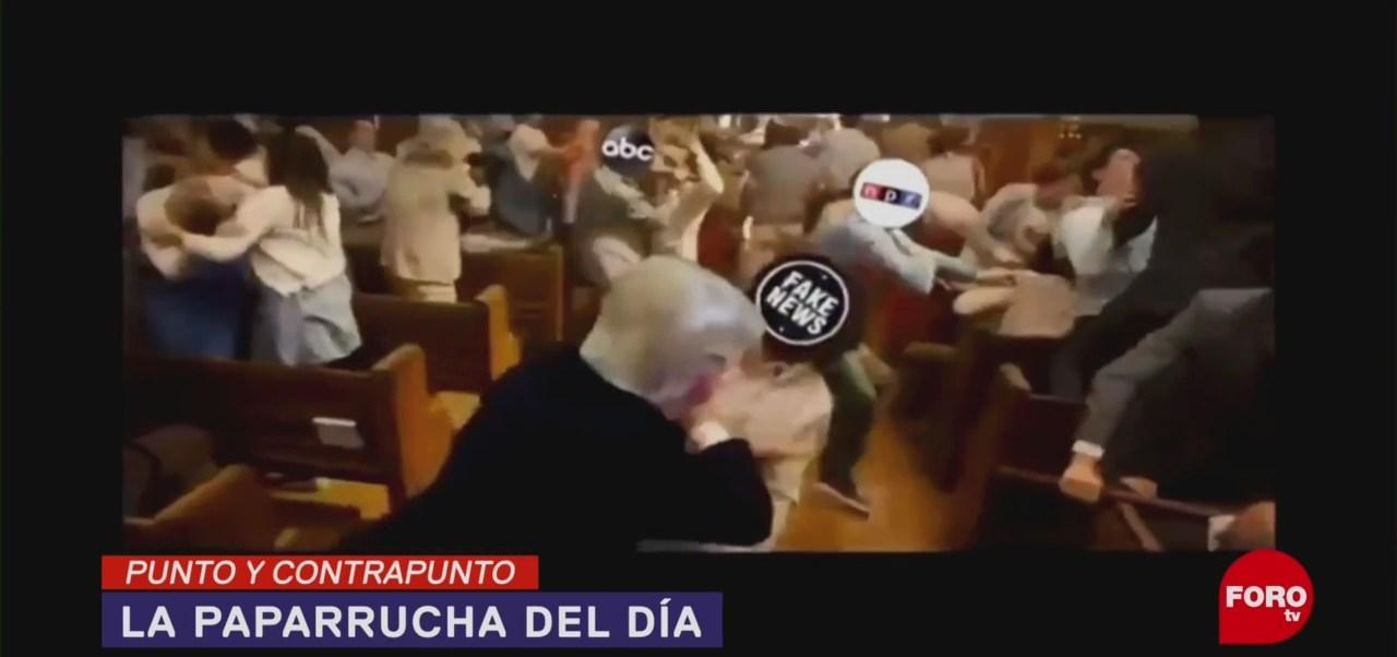 Foto: Video Manipulado Trump Fake News 15 Octubre 2019