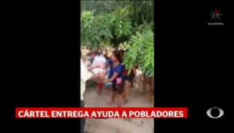 Foto: El Mencho Envía Ayuda Damnificados Tomatlán 22 Octubre 2019