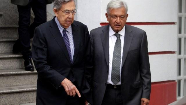 Foto: Cuauhtémoc Cárdenas y Andrés Manuel López Obrador, 26 de octubre de 2019, (Reuters)