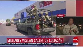 Foto: Ejército Resguardan Calles Culiacán Sinaloa Hoy 23 Octubre 2019