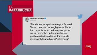 Foto: Elizabeth Warren Precandidata Demócrata Fake News 14 Octubre 2019
