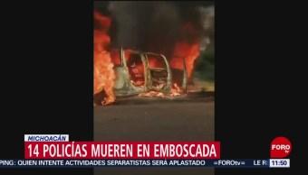 Emboscan a policías en Aguililla, Michoacán