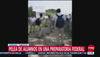 En video, captan pelea de alumnos de preparatoria federal