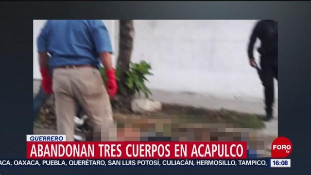 Encuentran tres cuerpos torturados Acapulco Guerrero