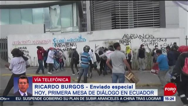 FOTO: Este domingo se celebra la primera mesa de diálogo en Ecuador, 13 octubre 2019