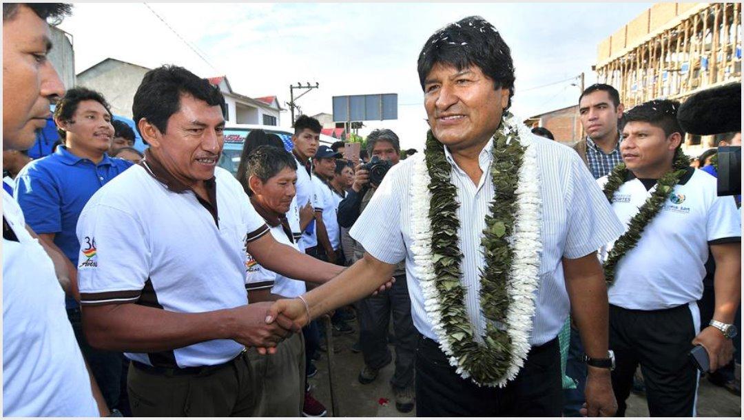 Foto: Evo Morales lidera las elecciones en Bolivia, 20 de octubre de 2019 (EFE)