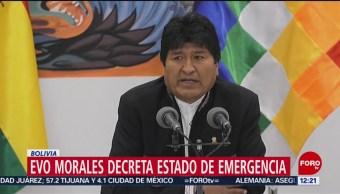 Evo Morales se proclama ganador de elecciones en Bolivia, denuncia golpe de Estado