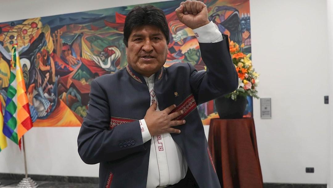 Foto: El presidente de Bolivia, Evo Morales, anunció su triunfo en la primera vuelta de las elecciones del domingo, 24 octubre 2019
