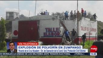 FOTO: Explosión polvorín Zumpango dejó menos dos muertos