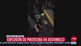 Foto: Explosión Pirotecnia Xochimilco Heridos Hoy Video 31 Octubre 2019