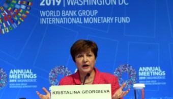 FOTO Kristalina Georgieva, directora del FMI, reclama a México que favorezca al sector privado para mejorar su economía (AP)