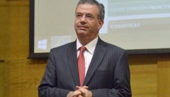 Foto: Alejandro Díaz de León, gobernador del Banco de México. Twitter/@Banxico
