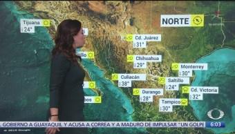 Frente frío ocasionará lluvias intensas en nueve estados