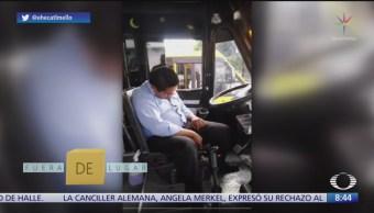 Fuera de Lugar: Chofer de transporte público se queda dormido